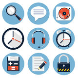 Flat web icons Royalty Free Stock Image