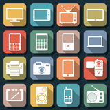Flat web icons vector set 1 Stock Images