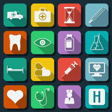 Medicine web icons vector set Royalty Free Stock Photography