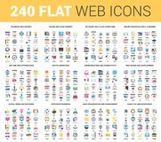 Flat Web Icons Stock Photo