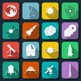 Space web icons vector set Stock Images
