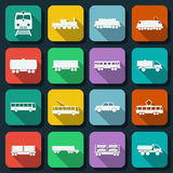 Transportation web icons vector set Royalty Free Stock Image