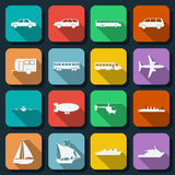 Transportation web icons vector set Royalty Free Stock Images