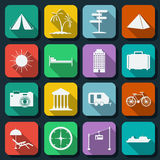 Travel web icons vector set Royalty Free Stock Photo