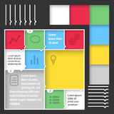 Flat web mobile interface kit Stock Photography