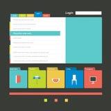 Flat web page, blog, portfolio. Vector background Stock Photography