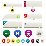 Flat Web Pin Point Elements Royalty Free Stock Image