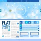 Flat web site design. Ecology background Stock Image