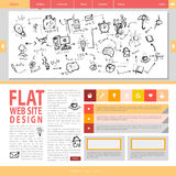 Flat web site design. Stock Photo