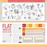 Flat web site design. Stock Photo