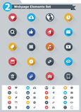 Flat webpage elements icon set Stock Images
