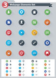 Flat webpage elements icon set Stock Photography