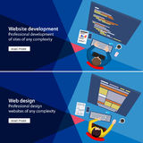 Flat website development and design process Stock Images