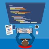 Flat website development process Royalty Free Stock Photos