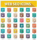 Flat Website seo icons,colorful version royalty free illustration