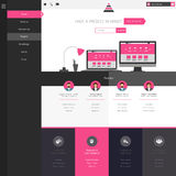 Flat Website Template (Homepage, Portfolio, About, Contact) Stock Photo