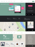 Flat Website Template (Homepage, Portfolio, About, Contact) Royalty Free Stock Photo