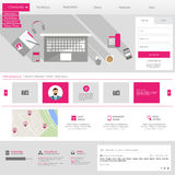 Flat Website Template (Homepage, Portfolio, About, Contact) Royalty Free Stock Photos