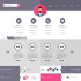 Flat Website Template Vector Design royalty free illustration