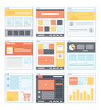 Flat Website Wireframe Royalty Free Stock Photos