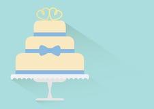 Flat wedding cake Royalty Free Stock Images