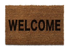 Flat Welcome Mat Stock Photo