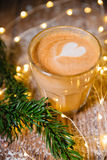 Flat White Coffee cup royalty free stock images