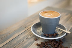 Flat white coffee royalty free stock images