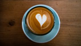 Flat white made by professional barista in Korea royalty free stock photos