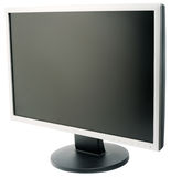 Flat wide LCD monitor. Computer LCD flat wide monitor isolated on the white Stock Photo