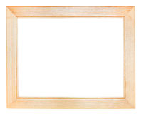 Flat wide wooden picture frame Royalty Free Stock Photos