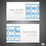 Flat windows frame calling card Royalty Free Stock Photos