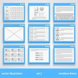Flat windows frame. set 2. Vector illustration art Stock Photo