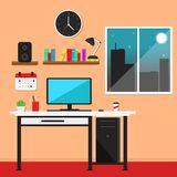 Flat Workstation Vector Illustration vector illustration