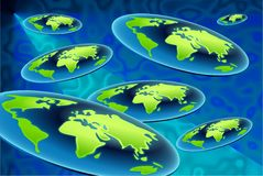 Flat world background Stock Images