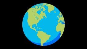 Flat world 02 stock video