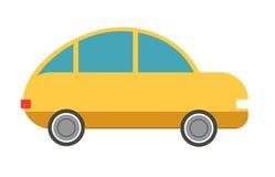 Flat  yellow car Royalty Free Stock Photo