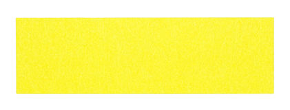 Flat yellow rectangular sticky note Stock Photos