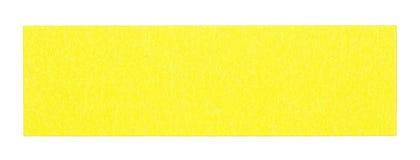 Flat yellow rectangular sticky note. Isolated on white background Stock Photos
