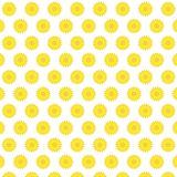 Flat yellow sunflower blooming pattern background. Vector illustration.Fresh sunflower pattern Royalty Free Stock Photography