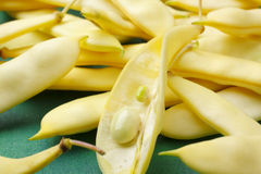 Flat yellow wax beans Royalty Free Stock Photo