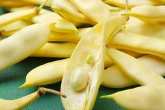 Flat yellow wax beans Royalty Free Stock Photo
