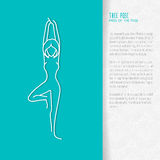 Flat yoga booklet design Stock Image