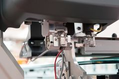 Flatbed cutter/router cutting plotter stock photography