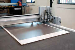 Flatbed cutter/router (cutting plotter) Royalty Free Stock Photography