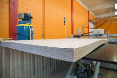 Flatbed cutter/router (cutting plotter) royalty free stock image