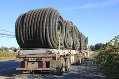 Flatbed and Flexible Hose or Duct Royalty Free Stock Photography