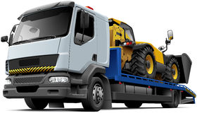 Free Flatbed Recovery Vehicle With Telescopic Handler Royalty Free Stock Images - 77138949