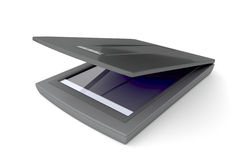 Flatbed scanner. On white background Royalty Free Stock Image