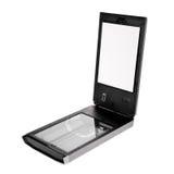 Flatbed scanner die op wit wordt geïsoleerdg Royalty-vrije Stock Fotografie